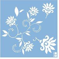 Marabu Motivschablone Dancing Flowers 330 x 330 mm