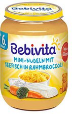 Bebivita Mini-Nudeln mit Seefisch in Rahmbroccoli