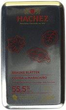 Hachez Braune Blätter Cocoa de Maracaibo, Metalldose (150 g)