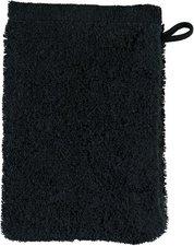 Cawö Life Style Uni Waschhandschuh schwarz (16 x 22 cm)