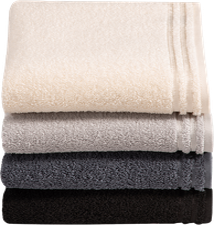 Vossen Calypso Feeling Seiftuch light grey (30 x 30 cm)