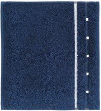 Vossen Quadrati Seiftuch marine/weiß (30 x 30 cm)