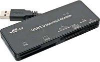 InLine Card Reader, USB 3.0, all in 1, schwarz (76631A)