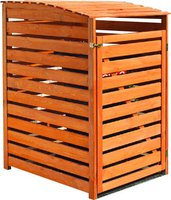 Promex Mülltonnenbox Vario III für 1 Tonne honig-braun (325/55)