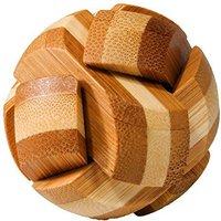 Fridolin IQ-Test - Bambus-Puzzle in Metalldose - Ball (17524)