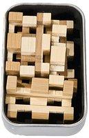 Fridolin IQ-Test - Bambus-Puzzle in Metalldose - Gitterbox (17326)