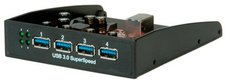 Rotronic 4 Ports USB 3.0 Hub Frontpanel 3,5