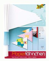 Folia Blanko-Papierwimpel 20 Stück
