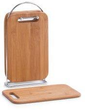 Zeller Brettchenständer 5-tlg. Bamboo/Chrom (25264)