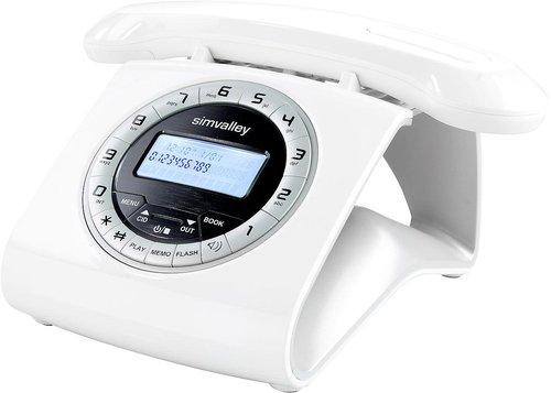Simvalley Retro-DECT-Schnurlostelefon