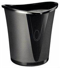 Esselte-Leitz Allura Papierkorb (18 L) schwarz