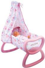 Smoby Puppenwiege mit Himmel weiß-rosa (24015)