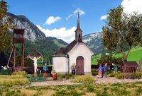 Kibri Kapelle Hirschbichl mit Zubehör (39780)