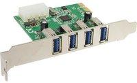 InLine Schnittstellenkarte, 4x USB 3.0, PCIe (76661I)
