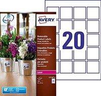 Avery Zweckform Produkt-Etiketten, 45 x 45 mm (L7126-8)
