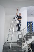 Steigtechnik Aluminium-Stehleiter treppengängig 2x8 Sprossen