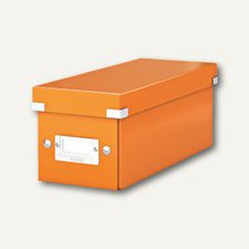 Esselte-Leitz 60410044 Click & Store CD Ablagebox Orange Metallic