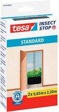 Tesa 55679-21 Fliegengitter Standard für Türen anthrazit (2 x 65 x 220 cm)