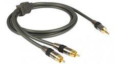 Goldkabel 128925 Profi 3,5mm Klinken-Adapterkabel (1,5m)