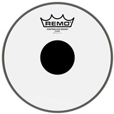 """Remo Clear Controlled Sound Black Dot 8 """""""
