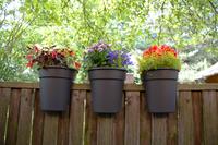 Westfalia Blumentöpfe Flowerclip 3er Set anthrazit