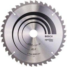 Bosch Optiline Wood Kreissägeblatt 254 x 30 x 2,0 mm WZ 40 (2 608 640 435)