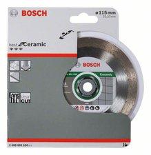 Bosch Diamanttrennscheibe 115 mm Fliesen/Keramik Schnittbreite: 18 Segmenthöhe: 10