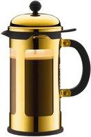 Bodum Chambord Kaffeebereiter 1,0 l mit Auslaufschutz Gold (11172-17)