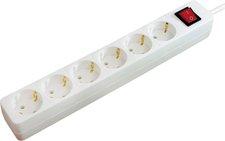 BAT 6-fach Steckdose Weiß mit Schalter, 3 m (1150620436)