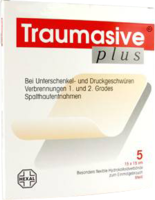 Hexal Traumasive Plus 10 x 10 cm Hydrokolloid Steril (5 Stk.)