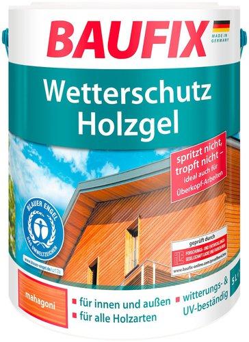 Baufix Wetterschutz-Holzgel Mahagoni 5 Liter (814905)