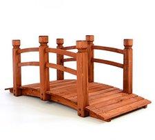 Dilego Holzbrücke mit Geländer rötlichbraun 150cm