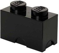 LEGO Aufbewahrungs-Box 1 x 2 (schwarz)