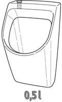 Keramag Renova Nr.1 Plan KeraFresh-Urinal (235156)