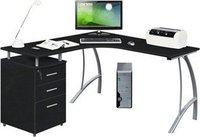 Bürostuhl24 Castor Eck-Schreibtisch mit Stand-Container (Graphit)