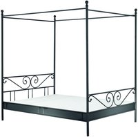 Reality Himmelbett Manege Metall schwarz (140 x 200 cm)