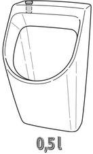 Keramag Renova Nr. 1 Plan Urinal 32,5 x 30 cm (235150)