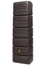 4rain Säulen-Wandtank Slim wood dekor 300L