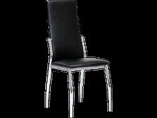 Link Vegas Stuhl Metall chrome PVC Schwarz (45 x 46 x 98,5 cm)