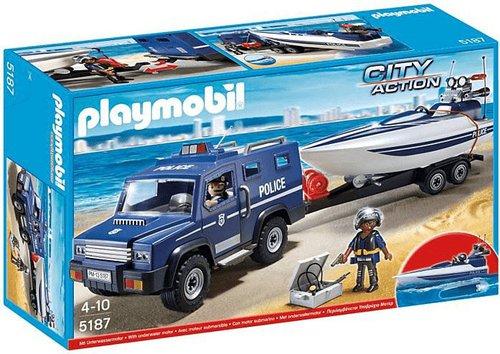 Playmobil City Action - Polizei-Truck mit Speedboot (5187)