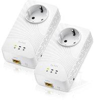 ZyXEL 600 Mbps Powerline Pass-Thru Gigabit Ethernet Adapter (PLA5215)