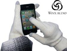 Sandberg Touchscreen Handschuhe weiß