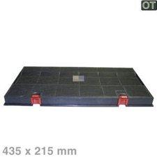 EUROPART Kohlefilter 435 x 215 mm