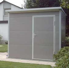 nws gartenhaus pultdach 150 x 150 cm stahl preisvergleich ab. Black Bedroom Furniture Sets. Home Design Ideas