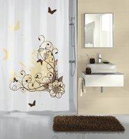 Kleine Wolke Duschvorhang Brown Flower