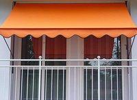 Angerer Klemm-Markise (350 x 150 cm) uni-orange