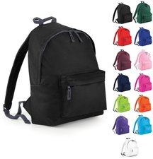 Bagbase Junior Fashion Backpack white/graphite grey