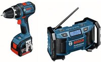Bosch GSR 14,4 V-LI Professional 2 x 1,5 Ah + 43 tlg. Set, L-BOXX (0 615 990 EZ3)