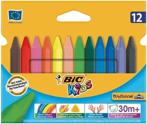 BIC Kids Plastidecor 12 Malkreiden
