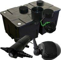 Wiltec Teichfilter Set CPF 350 B 60.000 Liter, 36W UVC, Skimmer